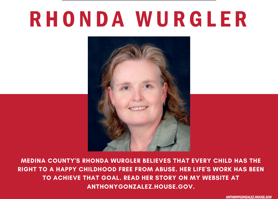 Anthony Gonzalez features Executive Director Rhonda Wurgler as Featured Constituent