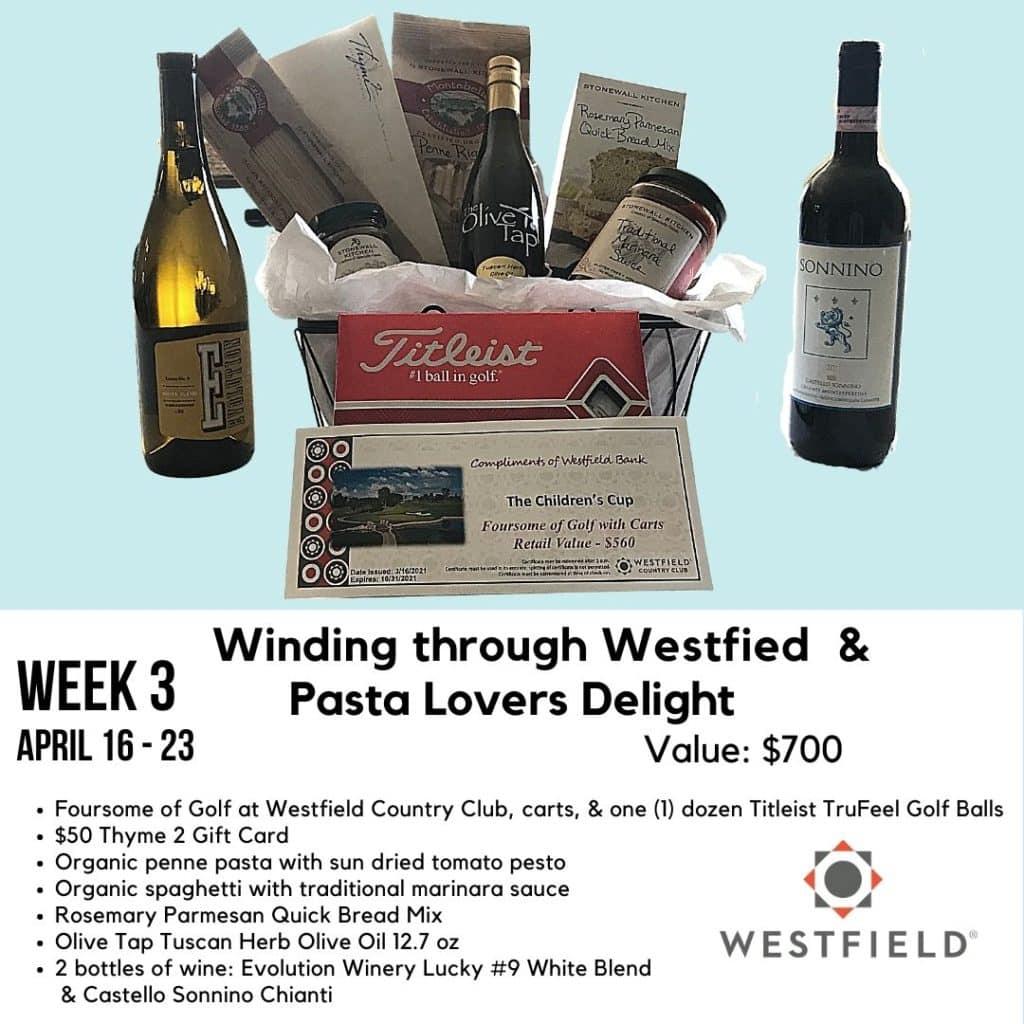 Winding through Westfield & Pasta Lover's Delight Gift Basket